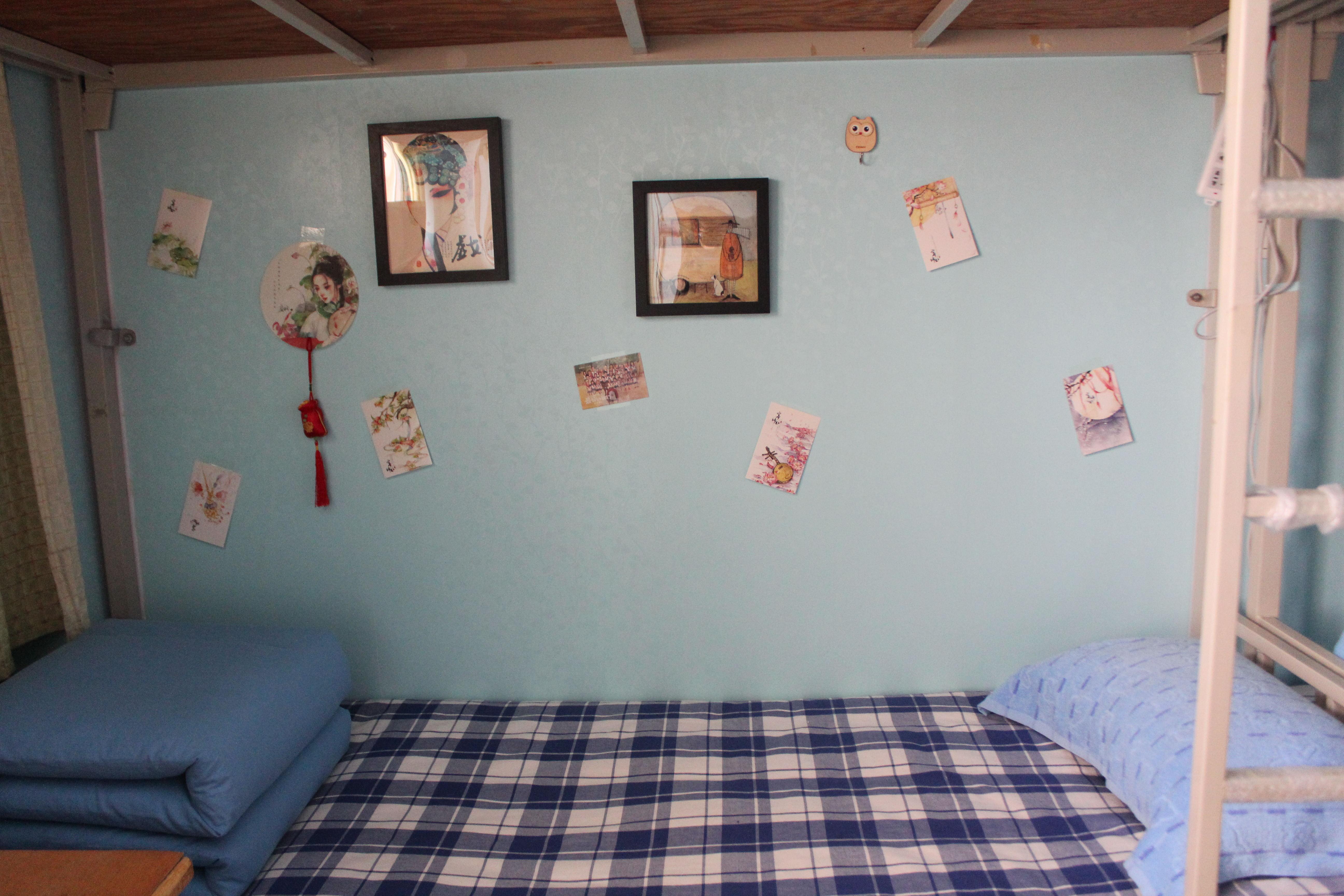 """宿舍装修风格迥异,有甜美可爱的粉色""""公主屋"""",有地中海风格的中性色彩"""